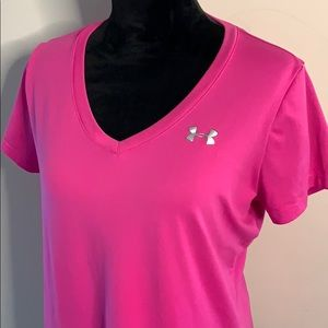 Under Armour V-neck Pink Tee